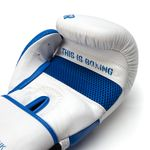 Thumbnail - Champion Grade A Leather Training Boxing Glove in White and Blue - 21