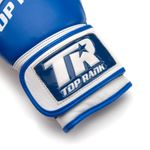 Thumbnail - Champion Grade A Leather Training Boxing Glove in White and Blue - 41