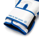 Thumbnail - Champion Grade A Leather Training Boxing Glove in White and Blue - 61
