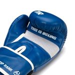Thumbnail - Contender Training Boxing Glove in Blue with White Trim - 21