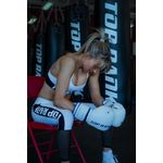 Thumbnail - Contender Training Boxing Glove in White with Blue Trim - 61