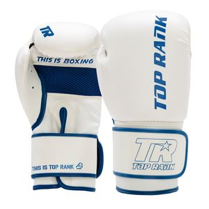Contender Training Boxing Glove in White with Blue Trim