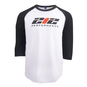 212 Performancce Logo Raglan Tee in Black and White