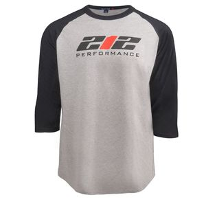 212 Performance Logo Raglan Tee in Black and Gray