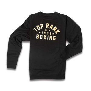 Top Rank Boxing Est 1966 Crew Neck Sweatshirt in Gold on Black