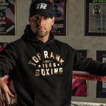 Thumbnail - Top Rank Boxing Est 1966 Hoodie Sweatshirt in Gold on Black - 21