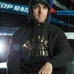 Thumbnail - Top Rank Boxing Est 1966 Hoodie Sweatshirt in Gold on Black - 31