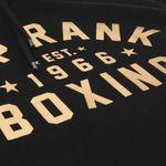 Thumbnail - Top Rank Boxing Est 1966 Hoodie Sweatshirt in Gold on Black - 11