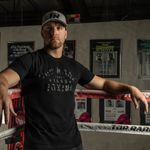 Thumbnail - Top Rank Boxing Est 1966 in Black on Black Tee - 21