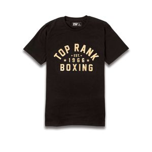 Top Rank Boxing Est. 1966 Gold on Black Tee