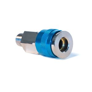 1/4-Inch Plated Brass 3-In-1 Universal Quick Disconnect Coupler with 1/4-Inch Male NPT Threads